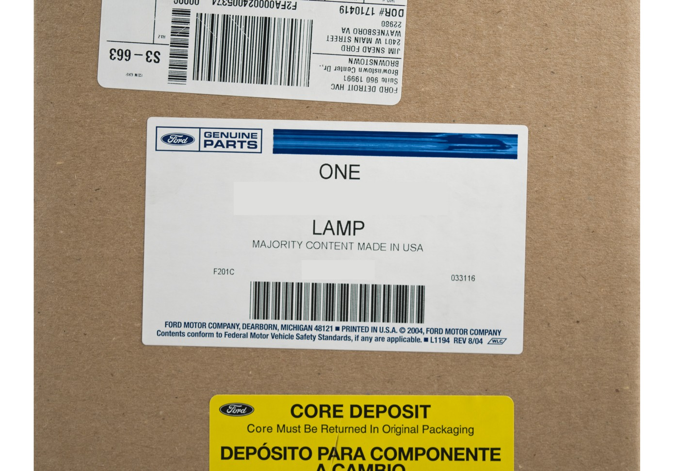 2015 2017 Mustang Genuine Ford Export European Clear Rear