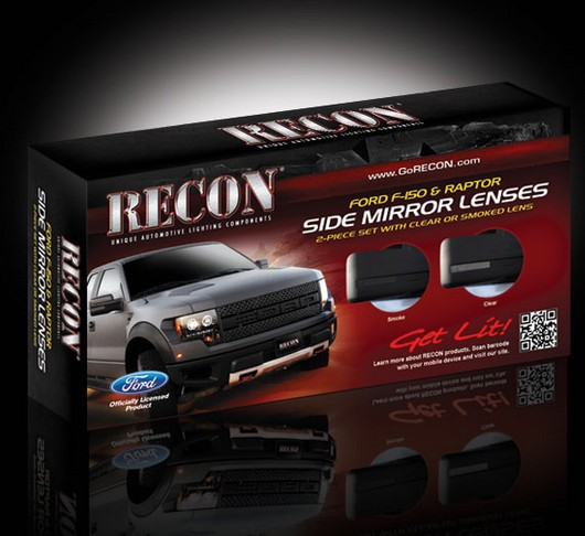 09 2014 Ford F 150 Amp Raptor Svt Recon Smoked Side Mirror