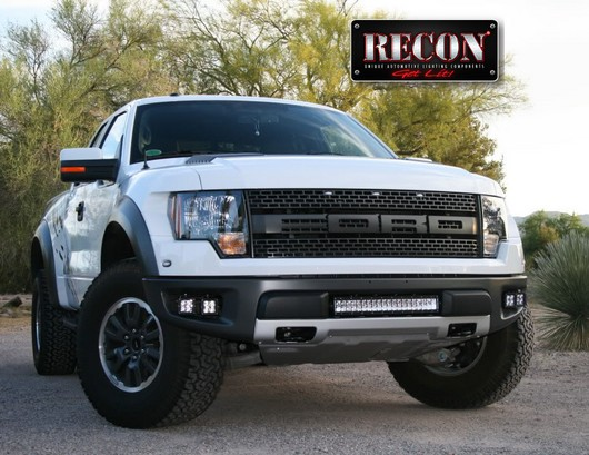 2010 2014 Ford F 150 Svt Raptor Recon White Led Driving