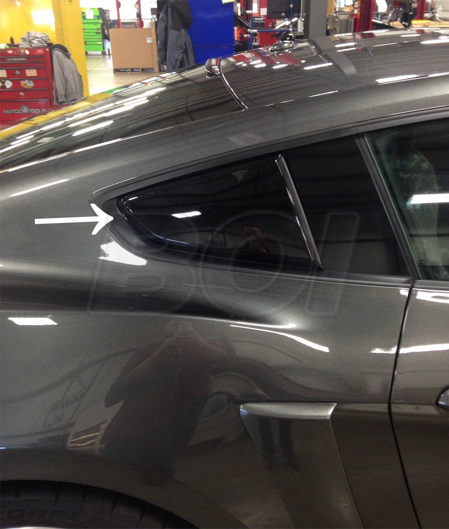 2015 2017 Mustang Coupe Roush Side Quarter Window Scoops