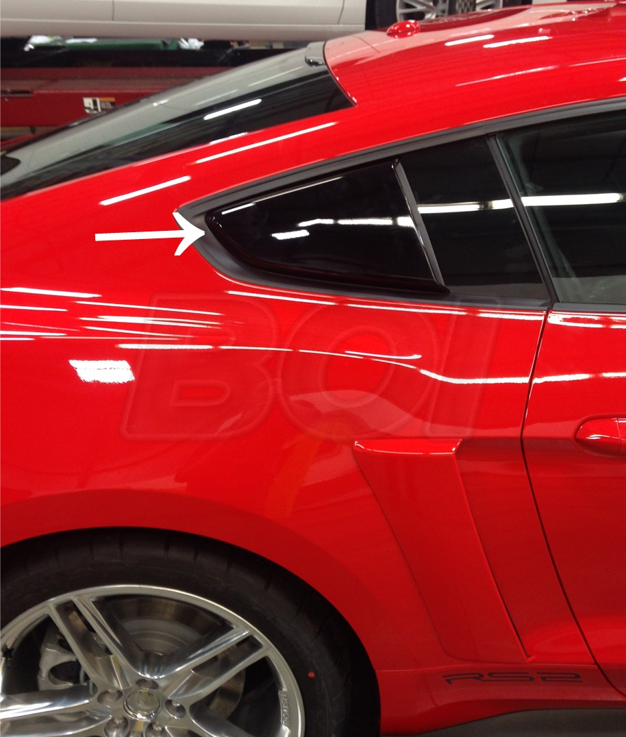 Ford Cobra Truck 2017 >> 2015-2017 Mustang Coupe Roush Side Quarter Window Scoops Black - Pair LH RH - Exterior - 2015 ...