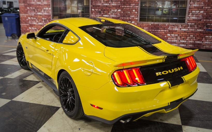 2015-2019 Mustang Coupe Roush 421883 Rear Spoiler Wing Primed & Ready to Paint
