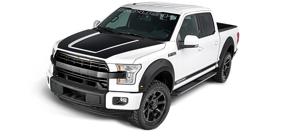 2015 2017 Ford F 150 Roush Logo Etched Style Front