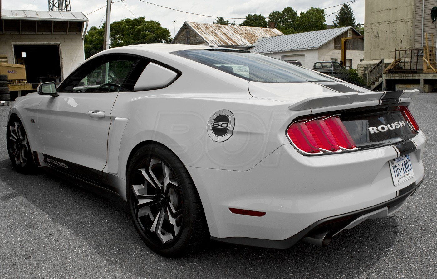 2015 2017 ford mustang gt 5 0 silver w black fill embossed gas fuel door. Black Bedroom Furniture Sets. Home Design Ideas