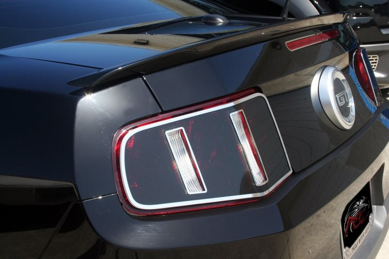 2010 2012 Mustang Gt Tail Light Blackout Plates W