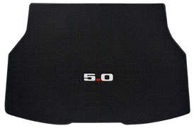 1979-1986 Ford Mustang Black Trunk Mat with 5.0 Emblem