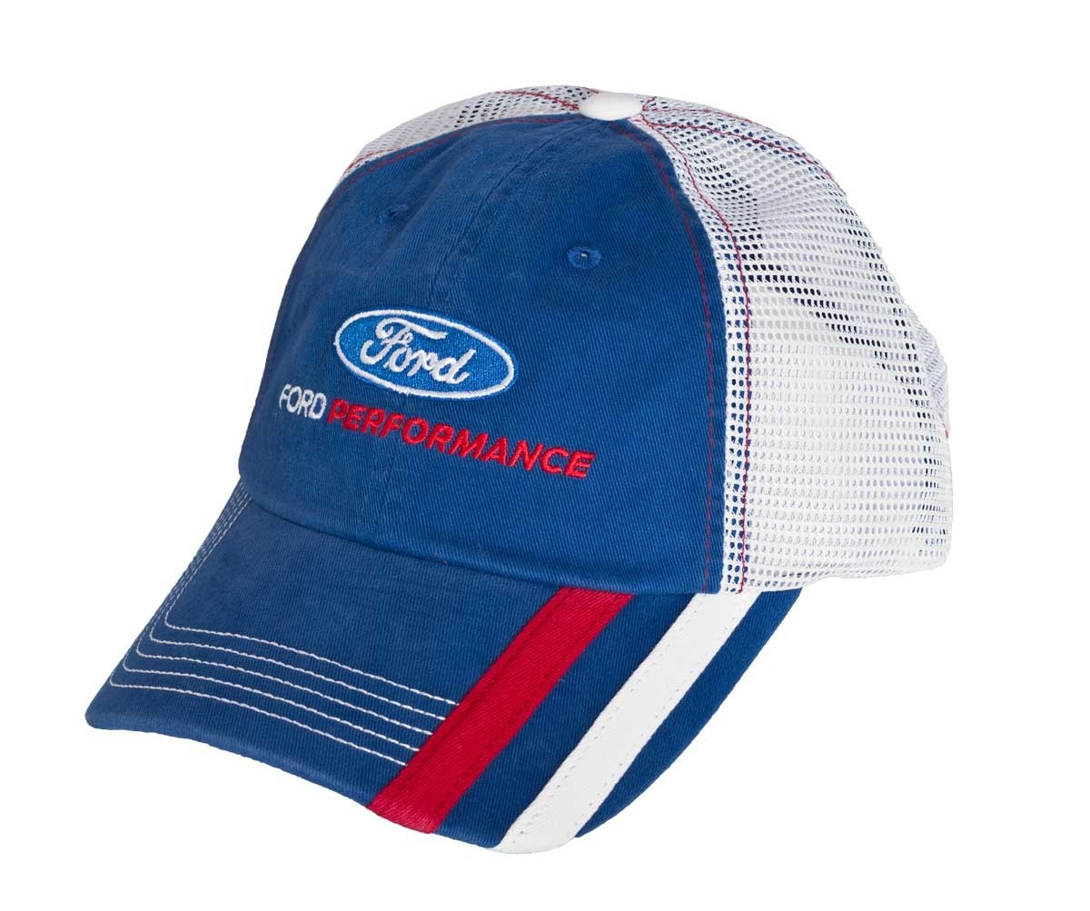 f01b9cf44 Ford Performance Embroidered Blue & White Adjustable Mesh Snap Back ...