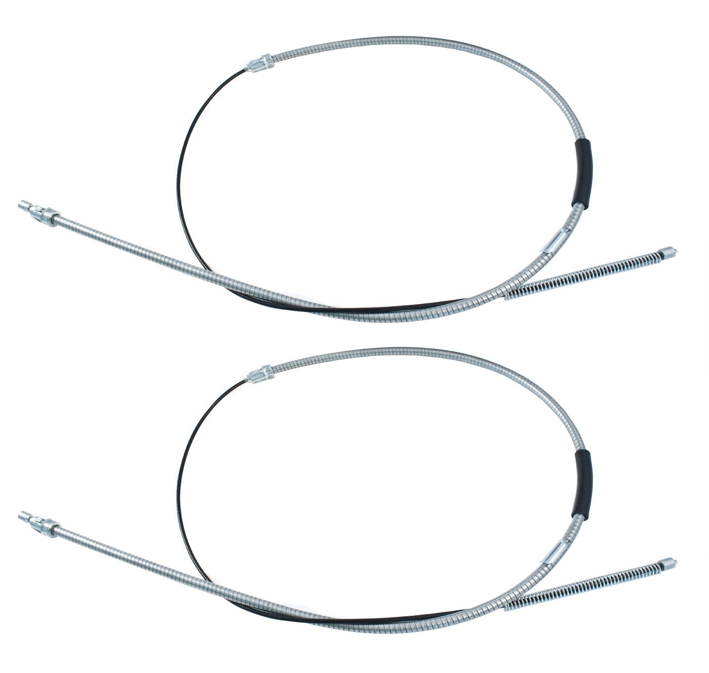 "1983-1992 Ford Mustang 68"" Parking E-Brake Cables for Drum Brakes - Pair"