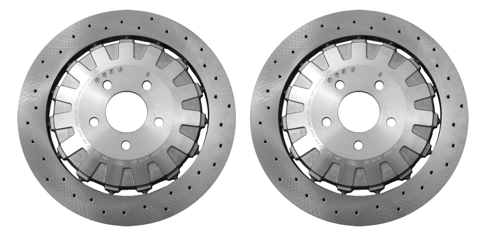2016-2017 Mustang Shelby GT350 Genuine Ford Rear Brake Rotors - Pair LH & RH