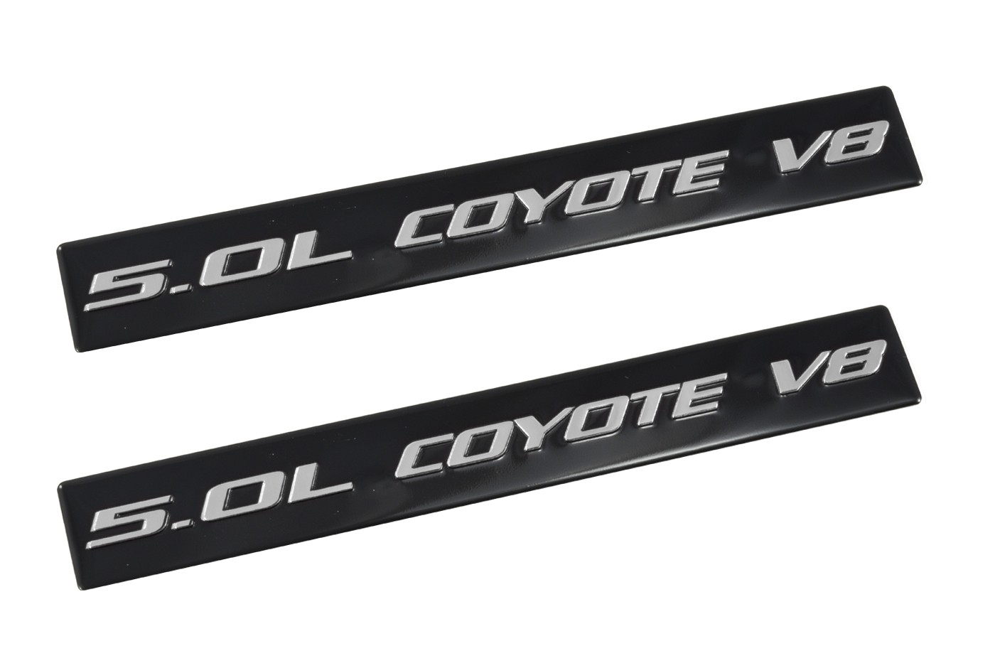 Ford Mustang Gt Ford F Coyote V Emblems Black Silver Pair
