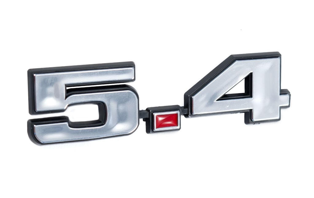 Ford Mustang 5.4 331 Stroker Engine Emblem Chrome & Red 4.75 x 1.25
