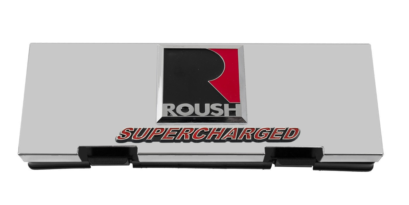 2010-2014 Ford F150 Roush Raptor Stainless Engine Fuse Box Cover w Emblems  - Engine Compartment - Ford Truck