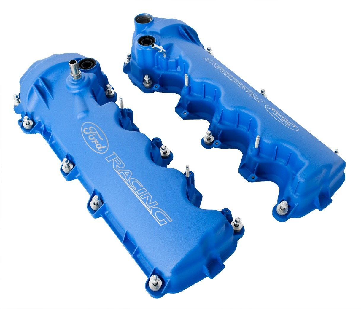 Ford Racing M-6582-FR3VBL Blue Powder Coated 3-Valve Camshaft Cover with Logo for 4.6L Engine