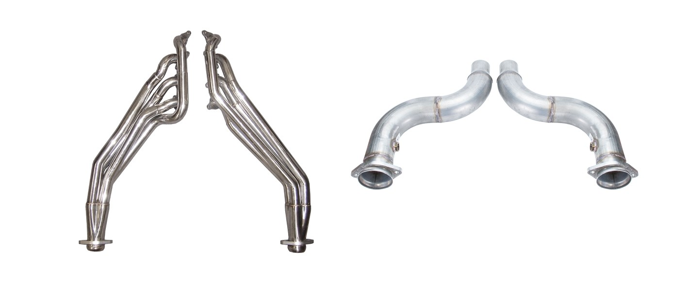 2018-2019 Mustang GT 5.0 Pypes Stainless Long Tube Headers w/ Off Road Mid Pipe
