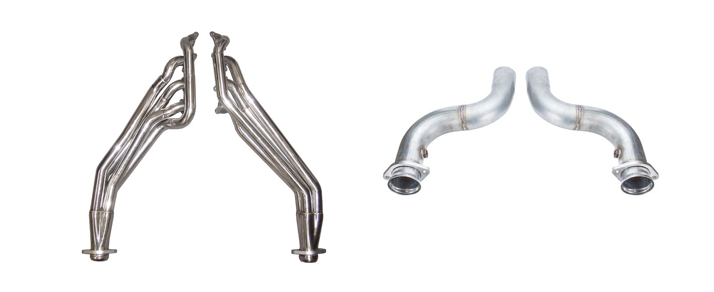 2018 Mustang GT 5.0 Pypes Stainless Long Tube Headers 3' Off Road Mid Pipe
