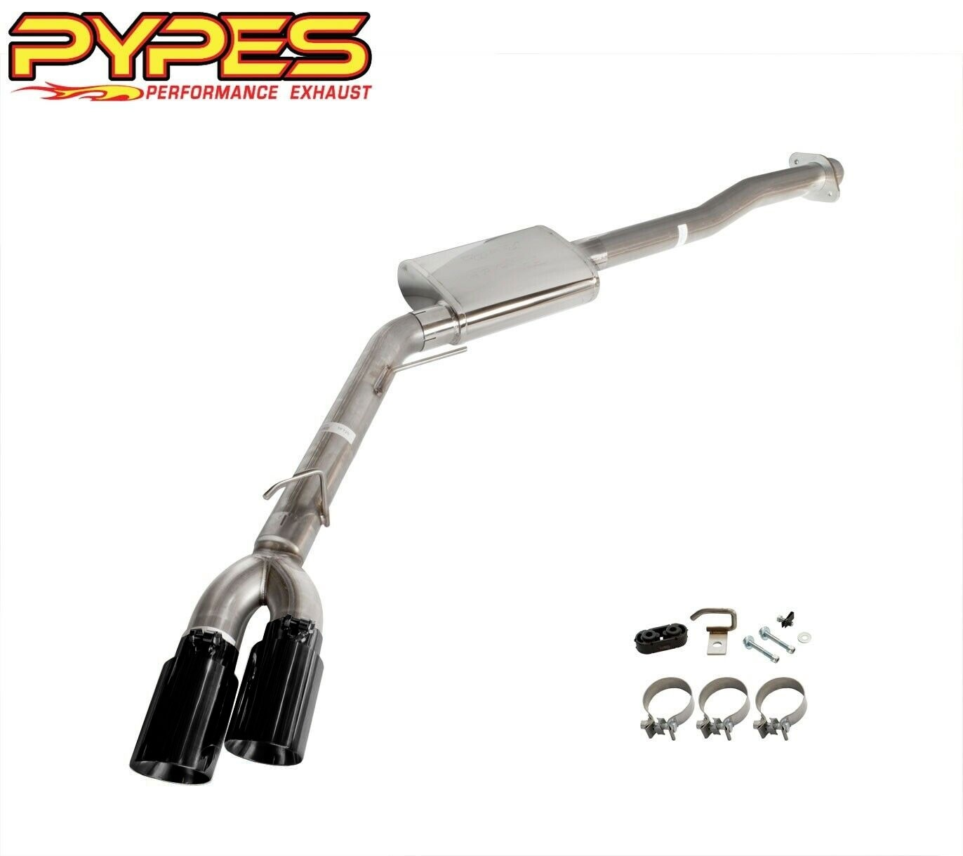 2015-2020 Ford F150 Pypes Performance Side Exit Exhaust System w/ Dual Black Tips
