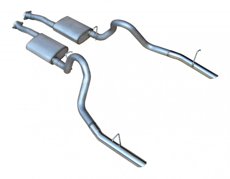 "1994-1995 Mustang GT 5.0L 2.5"" T409 SS Cat-Back Exhaust System"