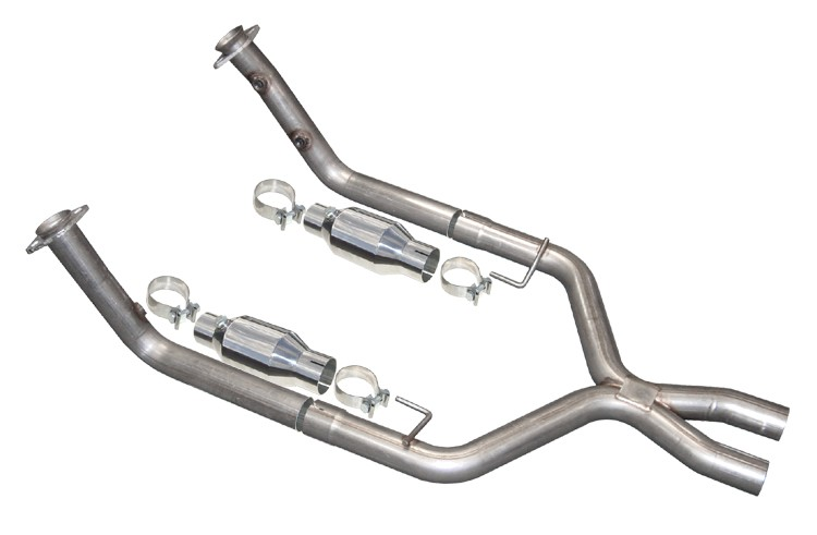 "2005-2010 Mustang GT 4.6 PYPES 2.5"" Stainless Steel X-Pipe w/ High Flow Cats"