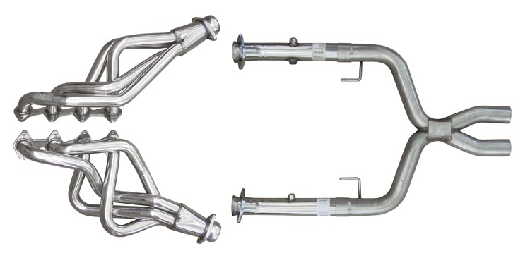 2005-2010 Mustang GT 4.6 PYPES Long Tube Headers & X-Pipe Exhaust Kit HDR55SK
