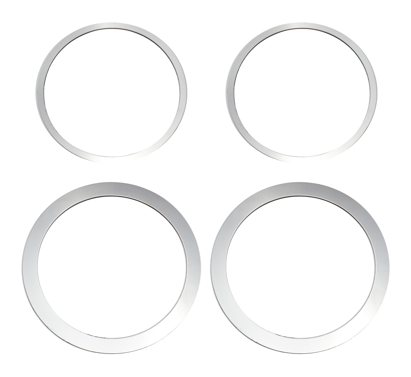 2015-2017 Mustang Polished Stainless Steel Midrange Speaker Trim Rings 4pc LH RH