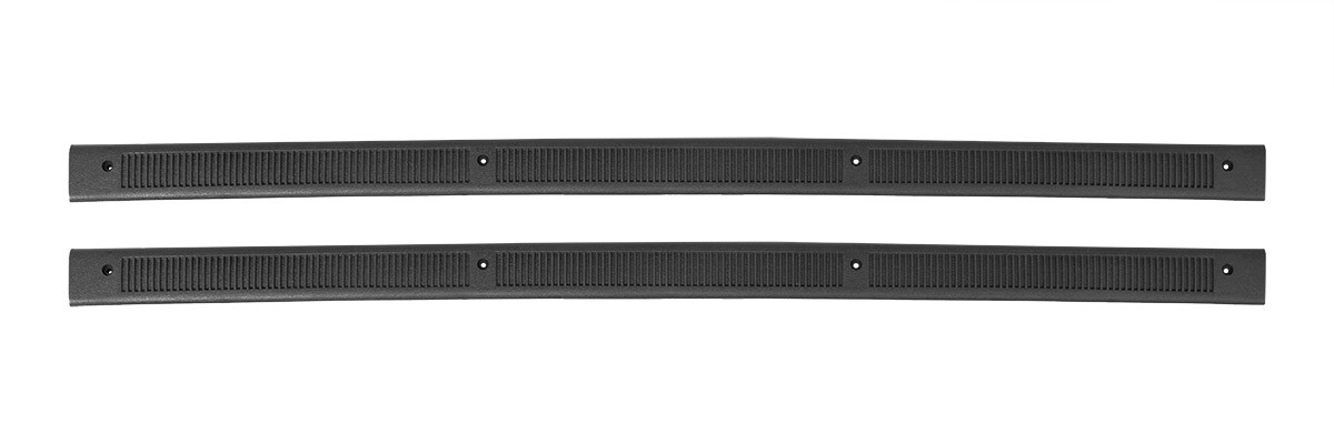 1979-1986 Mustang Bottom Door Jam Sill Step Plates in Charcoal Grey Pair LH & RH