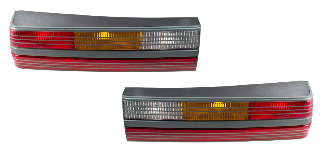 1985-1986 Ford Mustang SVO OEM Complete Rear Taillights Tail Lights with Housings