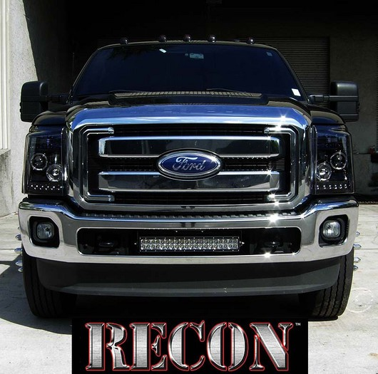 2011 2013 Ford F 250 F 350 Super Duty Smoked Projector Led