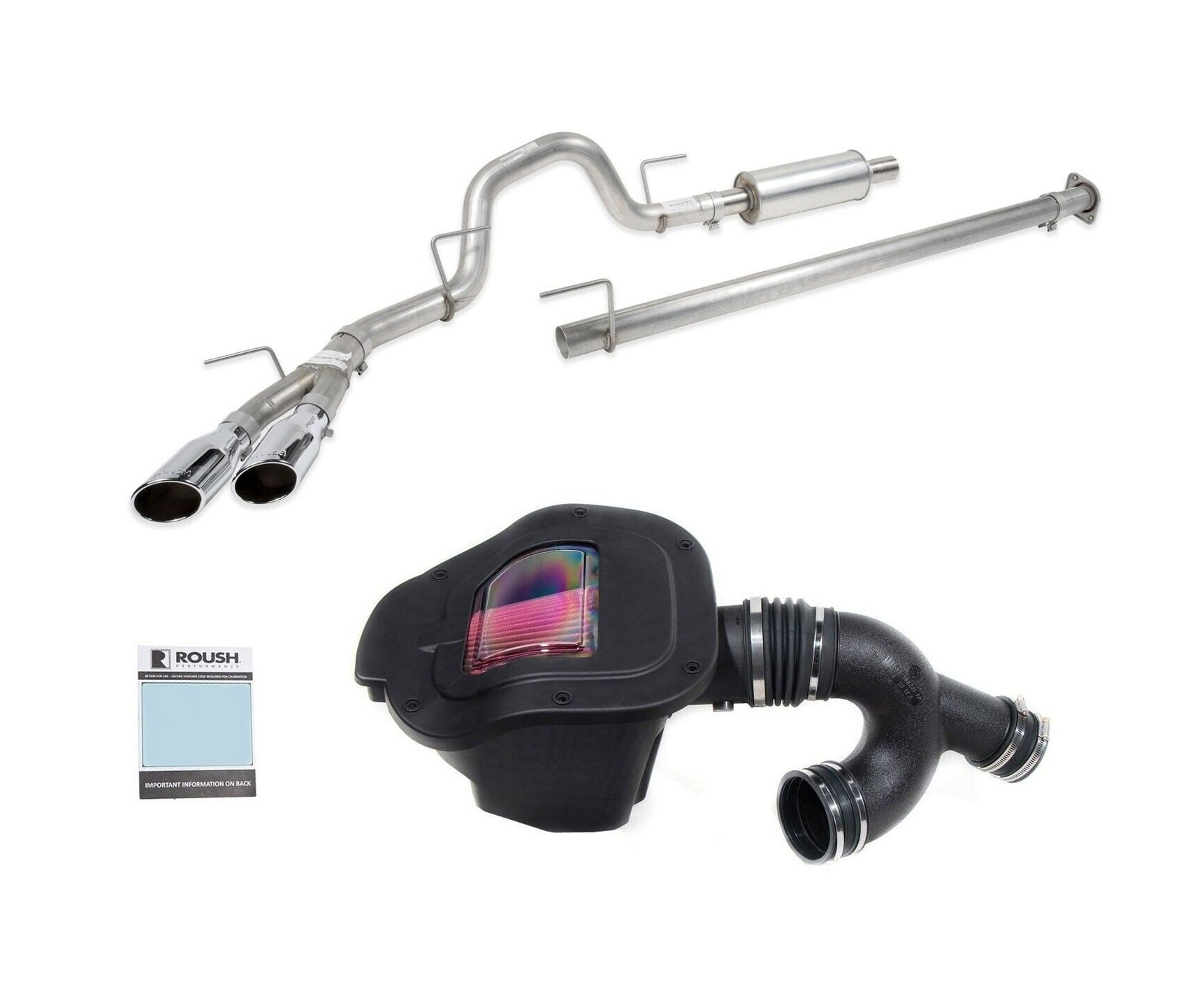 2019 Ford F150 3.5L Roush Exhaust & Cold Air Kit Performance Pac Level 2