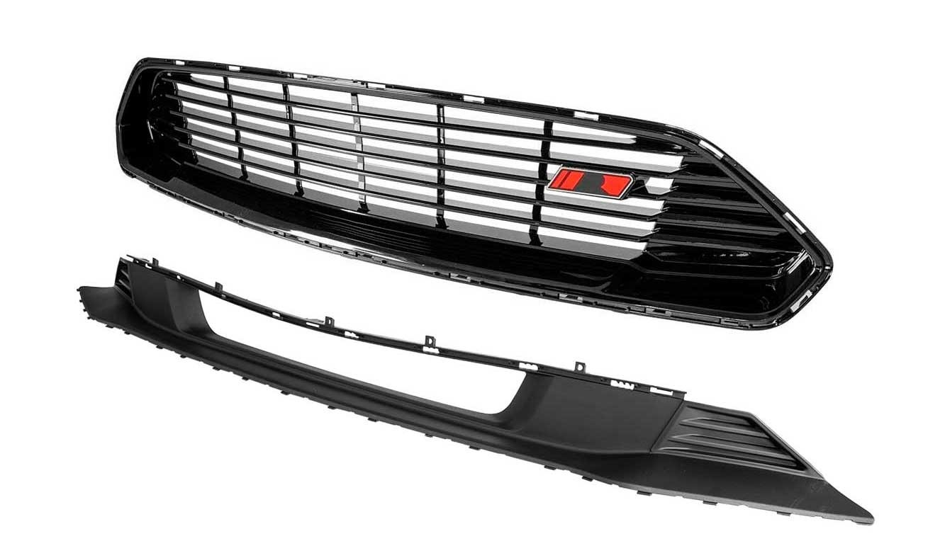2018-2021 Ford Mustang Roush Front Upper & Lower Fascia Grilles