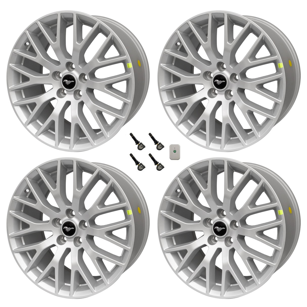 2015 2017 Mustang Wheels >> 2015 2017 Ford Mustang Gt Oem 19 X 9 X 9 5 Staggered Silver