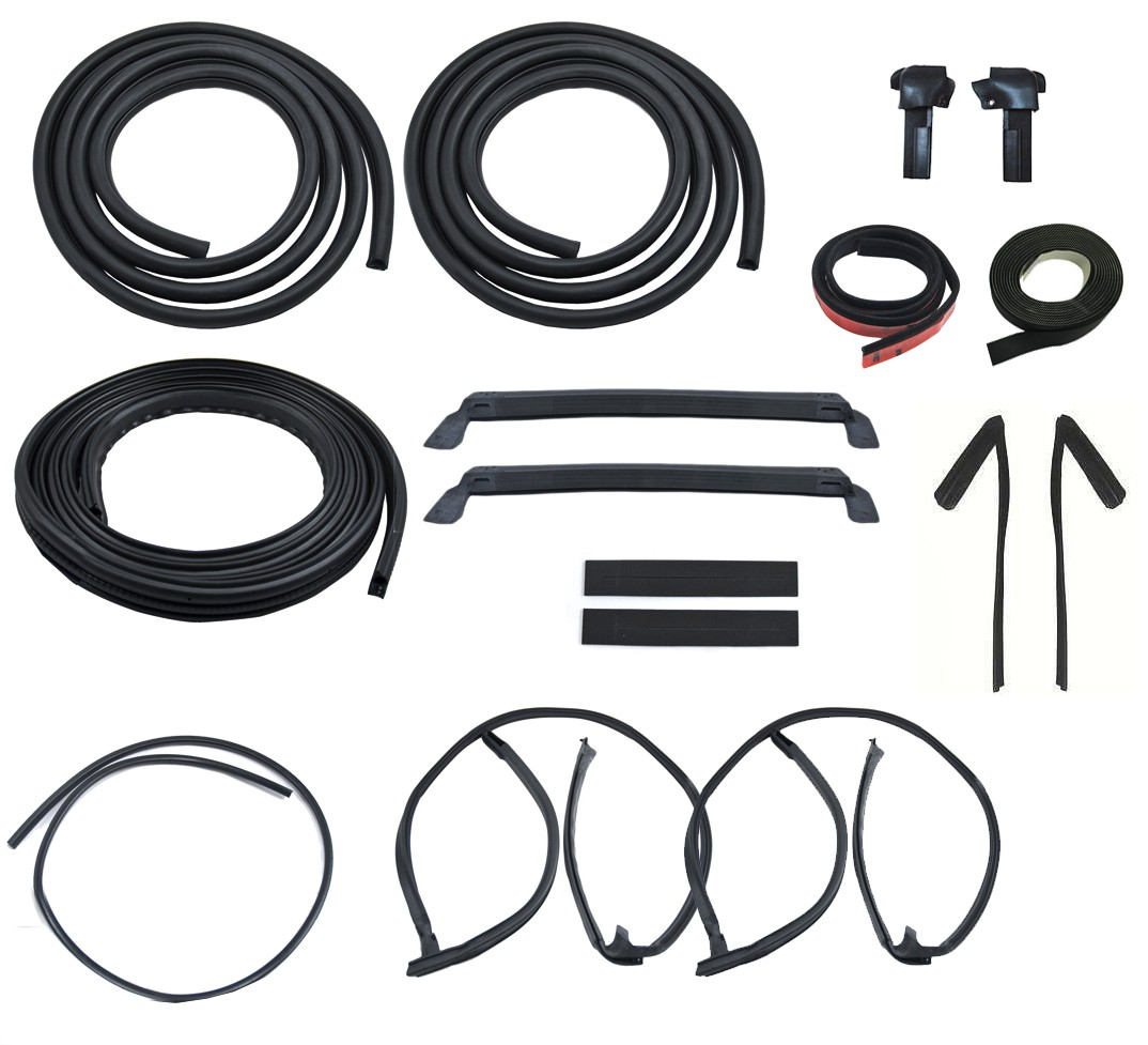 1981 1983 Ford Mustang Lx Gt T Top 18 Piece Deluxe Weatherstrip Engine Weatherstripping Rubber Seal Kit