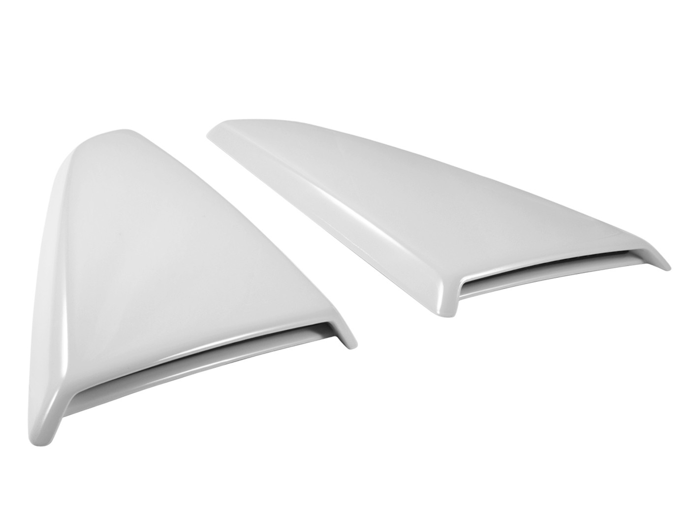 2015-2017 Mustang Genuine Ford Side Quarter Window Scoops Covers Oxford White YZ