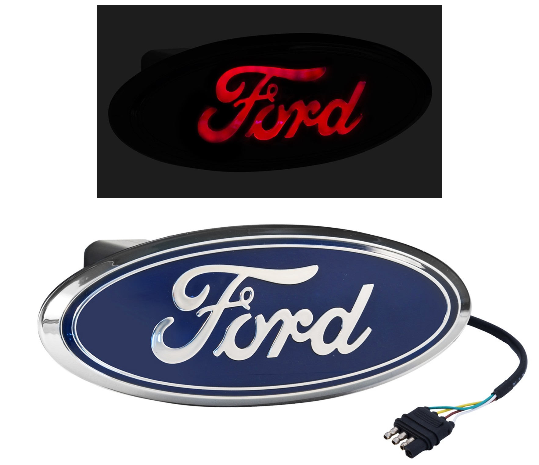 Ford Truck Rear Tow Hook 2 Quot Hitch Cover Red Led Light Up