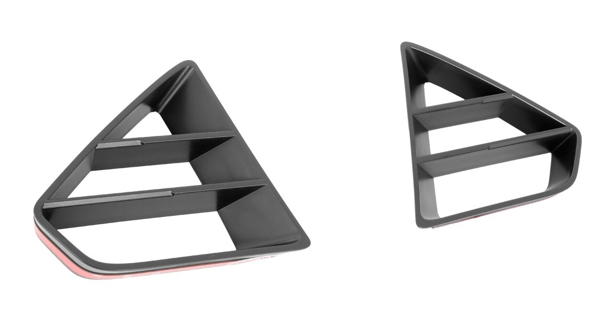 2018-2019 Mustang GT Front Upper Grille Inserts Black