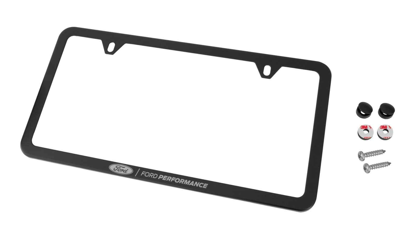 Ford Performance License Plate Frame - Black Stainless Steel