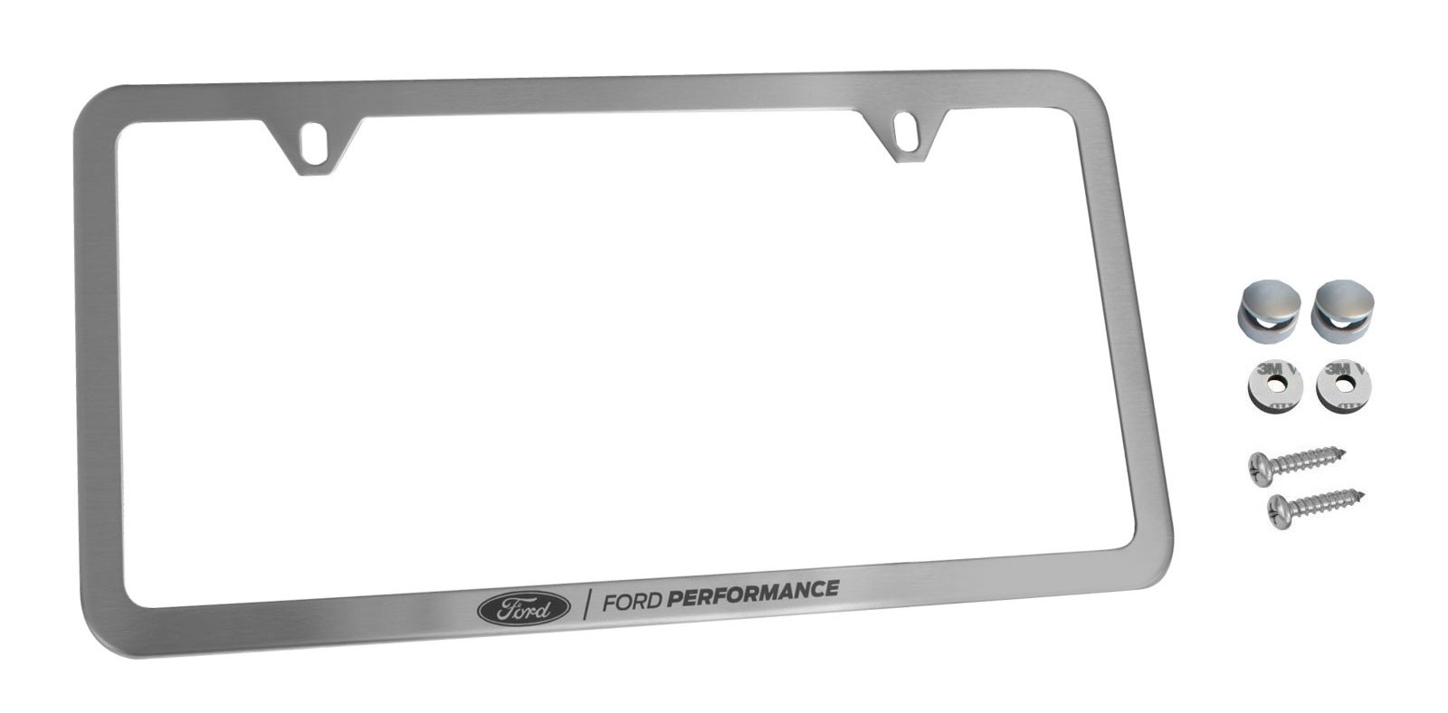 Ford Performance License Plate Frame - Brushed Stainless Steel