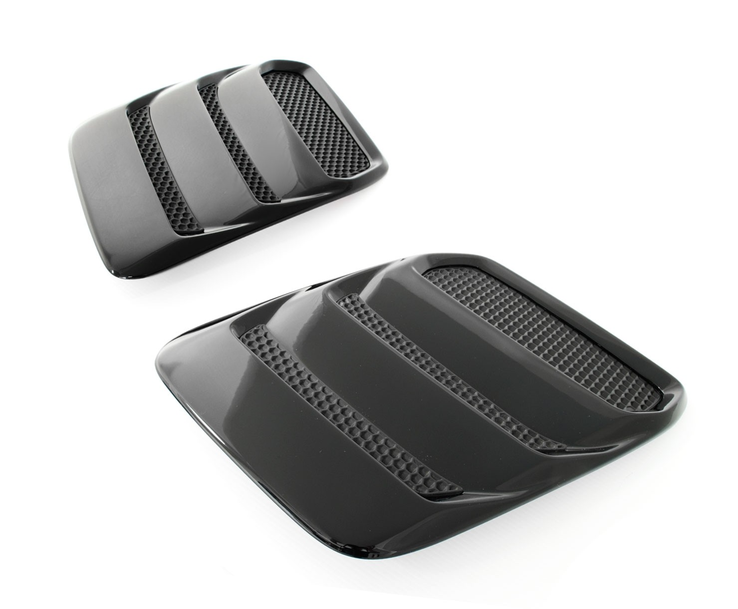 2018-2019 Mustang Genuine Ford Heat Extractors Hood Louvers Pair - Gloss Black