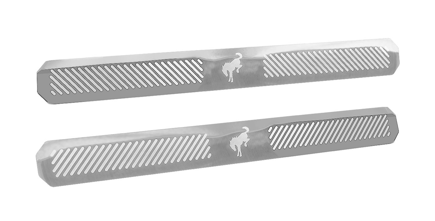 2021 Bronco Genuine Ford Door Sill Step Plates Pair Polished Stainless Steel