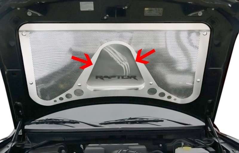 2010 2014 Ford F 150 Raptor Brushed Stainless Steel Hood Panel Vanity Plate  Insert W/ Claw