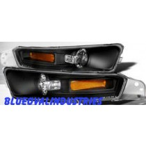 2005-2009 Mustang Black Bumper Lights