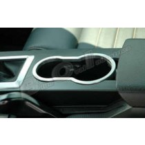 2005-2009 Ford Mustang or Shelby Billet Aluminum Center Console Cup Holder Trim Accent Bezel