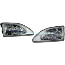 1994-1998 Ford Mustang Cobra Stock Headlights Clear w/ Chrome Housing Pair