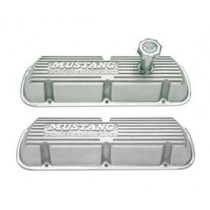 "1986-1993 Ford Mustang 5.0L 302 EFI Polished Aluminum Valve Covers ""Mustang Powered by Ford"""