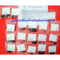 1979-1986 Ford Mustang Coupe Notchback Interior Hardware Screws Kit 116 Pieces