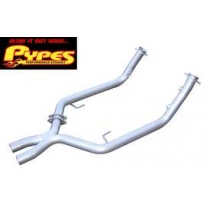 "2005-2009 Mustang GT 2.5"" Stainless Crossover X-Pipe"