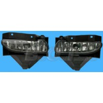1999-2004 Ford Mustang GT Euro Smoked Fog Lights - Pair