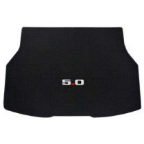 1987-1993 Ford Mustang Black Trunk Mat with 5.0 Emblem