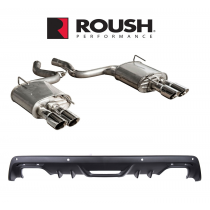 2015-2017 Mustang 2.3L Ecoboost Roush Quad Tip Exhaust System & Rear Valence