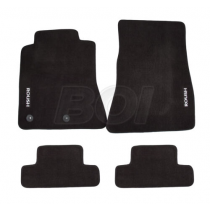 2015-2020 Ford Mustang Roush Embroidered Black Front & Rear Floor Mats - 4 Pc