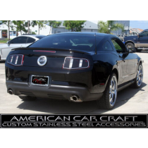 2010-12 Mustang GT Tinted Lexan Taillight Blackout Panels w/ Polished Trim Rings